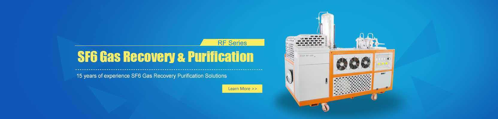 sf6 gas recovery and purification banner