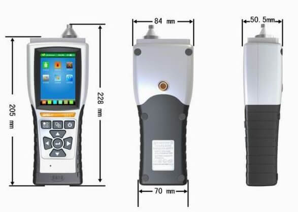PGas-20 Series Portable Gas pump built-in single gas detector